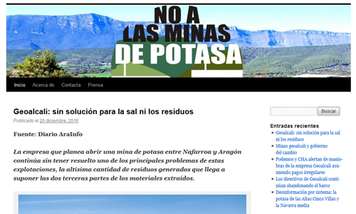 Blog: no a las minas de potasa